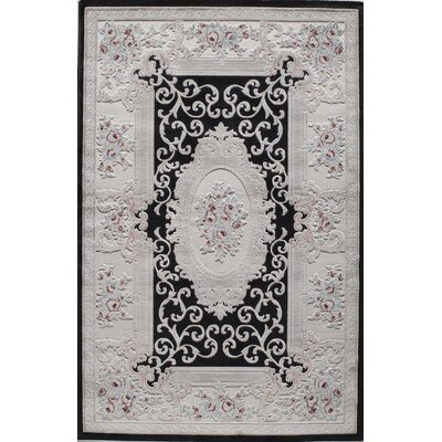 Kensington Black Area Rug Rug Size: Rectangle 5 x 8