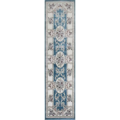 Kensington Light Blue Area Rug Rug Size: Runner 26 x 10