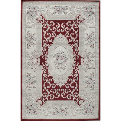 Kensington Dell Burgundy Area Rug Rug Size: 5 x 8