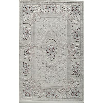 Kensington Elspeth Ivory Area Rug Rug Size: Rectangle 5 x 8