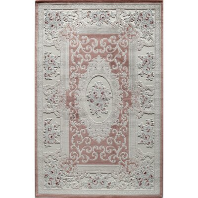 Kensington Kaleb Rose Area Rug Rug Size: Rectangle 2 x 4