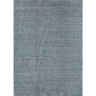 Asteria Gray/Blue Area Rug Rug Size: Runner 23 x 8