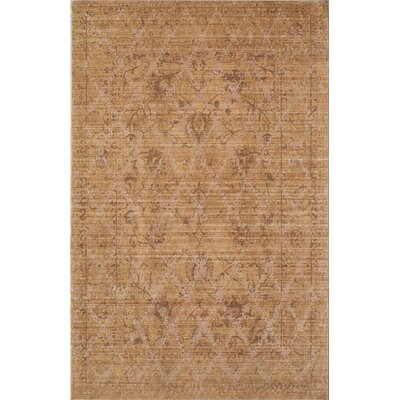 Asteria Gold/Yellow Area Rug Rug Size: 4 x 6