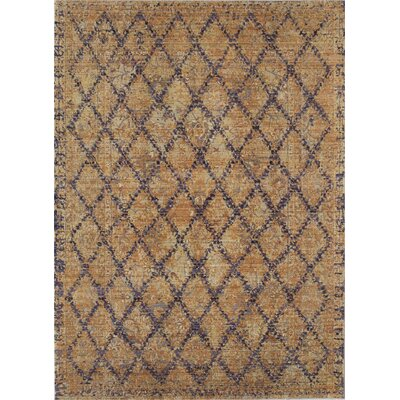 Asteria Gold/Plum Area Rug Rug Size: 8 x 10
