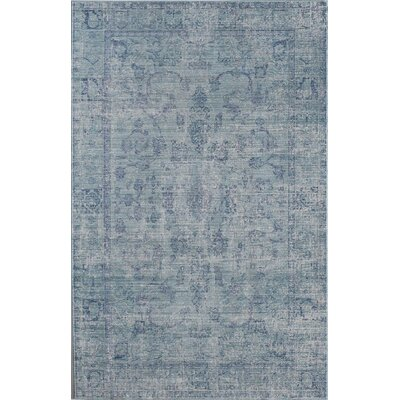 Asteria Creston Blue Area Rug Rug Size: 4 x 6