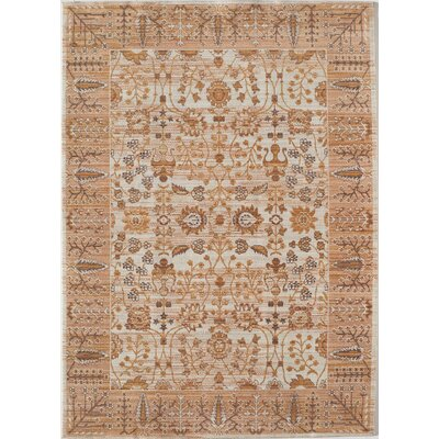 Asteria Cream/Tan Area Rug Rug Size: 5 x 8