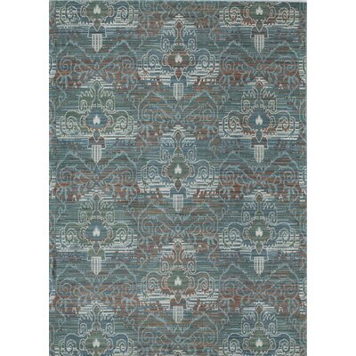 Asteria Blue/Green Area Rug Rug Size: 2 x 3