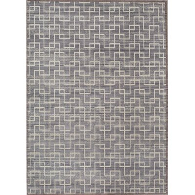 Asteria Gray/Ivory Area Rug Rug Size: 4 x 6