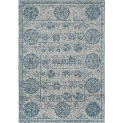 Beverly Blue Area Rug Rug Size: Rectangle 53 x 76