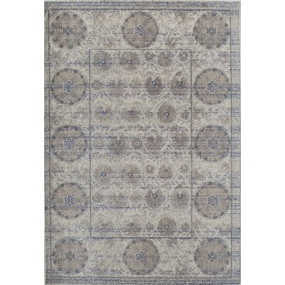 Beverly Gray Area Rug Rug Size: Rectangle 53 x 76