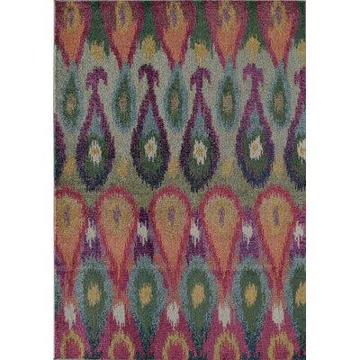 Beverly Bhali Red Area Rug Rug Size: 53 x 76