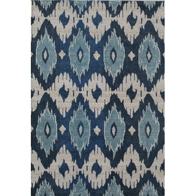 Beverly Machine Woven Blue Area Rug Rug Size: 710 x 910