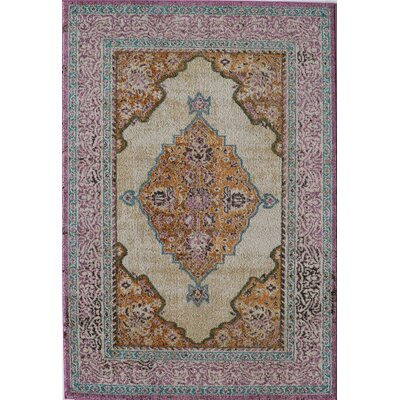 Beverly Ivory Rust Area Rug Rug Size: Runner 22 x 76