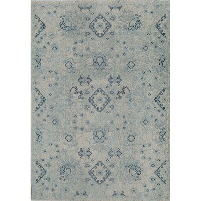 Beverly Machine Woven Blue Area Rug Rug Size: Rectangle 4 x 57