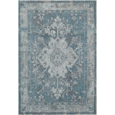 Beverly Sonia Cerulean Aqua Area Rug Rug Size: Rectangle 4 x 57