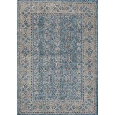 Estelle Seafoam/Ivory Area Rug Rug Size: 710 x 910