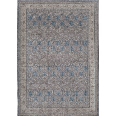Estelle Gray/Ivory Area Rug Rug Size: 53 x 76