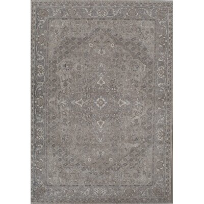 Estelle Gray/Ivory Area Rug Rug Size: 710 x 910