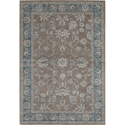 Estelle Gray/Blue Area Rug Rug Size: 53 x 76