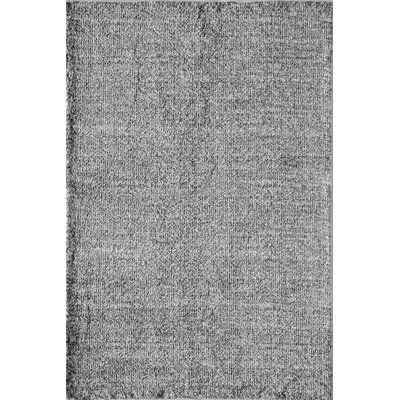 Cozy Midnight & Porcelain Shag Gray Area Rug Rug Size: 8 x 10