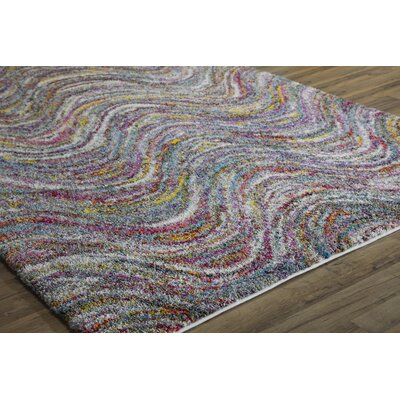 Iris Reef Waves Blue/Red Area Rug Rug Size: 8 x 10