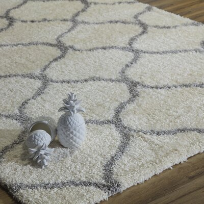 Links Ivory/Gray Area Rug Rug Size: Runner 23 x 8