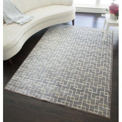 Asteria Balance Slate Gray/Ivory Area Rug Rug Size: 2 x 3