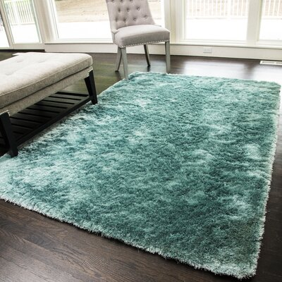 Luster Shea Light Blue Area Rug Rug Size: 7 x 9