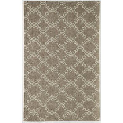 Brett Geometric Hand-Tufted Wool Beige Area Rug Rug Size: 8 x 10