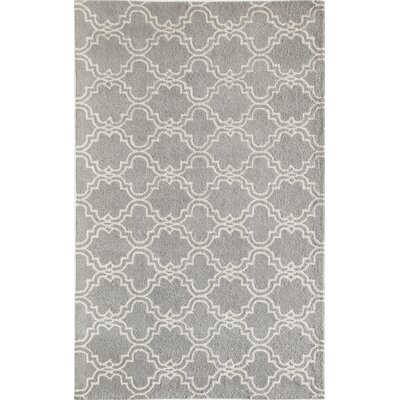 Blondelle Geometric Hand-Tufted Wool Slate Area Rug Rug Size: 8 x 10