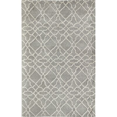 Daley Geometric Hand-Tufted Wool Gray Area Rug Rug Size: 5 x 8