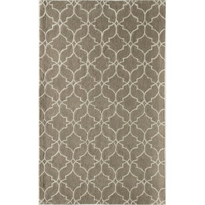 Deerberry Geometric Hand-Tufted Wool Beige Area Rug Rug Size: 8 x 10