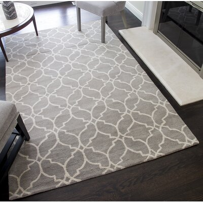 Dorothy Geometric Hand-Tufted Wool Gray Area Rug Rug Size: 8 x 10