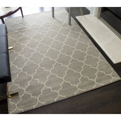 Brucie Geometric Hand-Tufted Wool Gray Area Rug Rug Size: 8 x 10