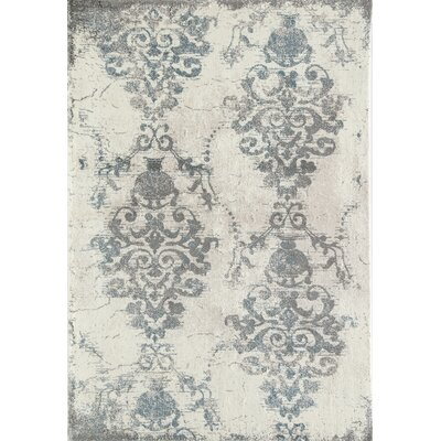 Hilltop Ivory/Gray Area Rug Rug Size: Runner 23 x 8