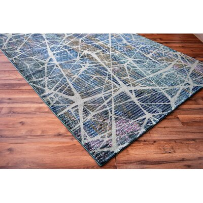 Basil Abstract Blue Area Rug