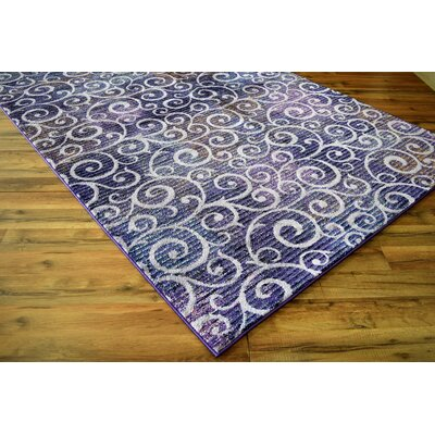 Haslett Swirls Lavender Area Rug
