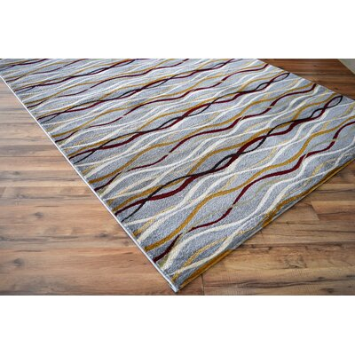 Croley Waves Blue Area Rug