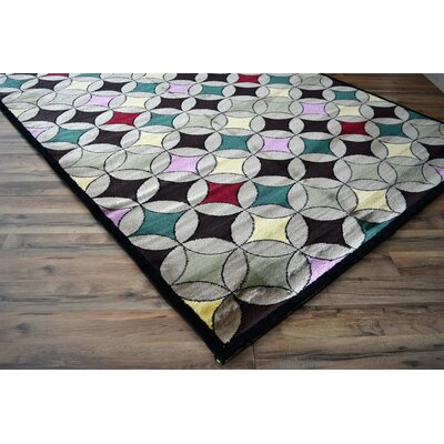 Basil Trellis Gray/Blue Area Rug