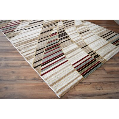 Lus White/Brown Area Rug