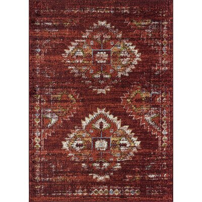 Cipolla Tribal Red Area Rug Rug Size: Rectangle 8 x 10