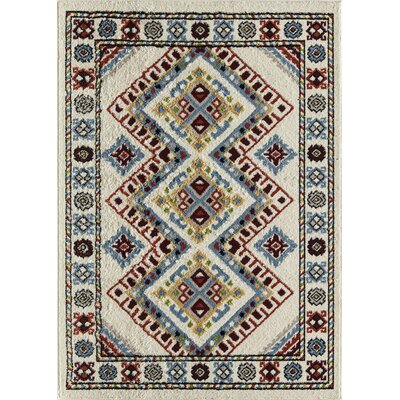 Oxon Hill Tribal Beige Area Rug Rug Size: Rectangle 5 x 7