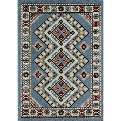 Oyer Tribal Blue Area Rug Rug Size: Rectangle 8 X 10