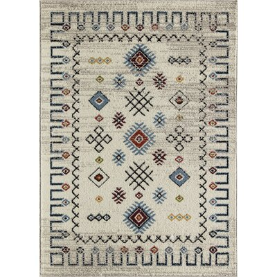 Oyola Tribal Cream Area Rug Rug Size: Rectangle 8 x 10