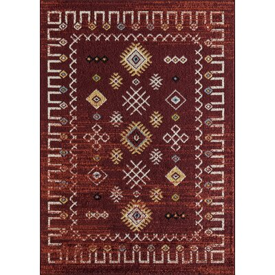 Pabon Tribal Rust Area Rug Rug Size: Rectangle 8 x 10