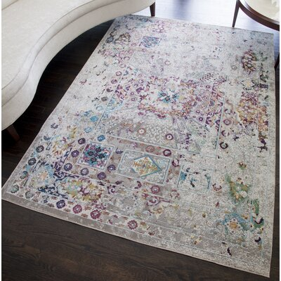 Chauvin Vintage Gray Area Rug Rug Size: Rectangle 5 x 7