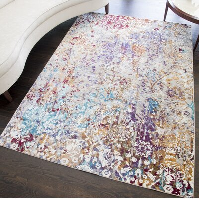 Chavarria Distressed Gray Area Rug Rug Size: Rectangle 8 x 10