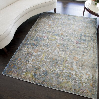Chavis Distressed Blue/Green Area Rug Rug Size: Rectangle 5 x 7