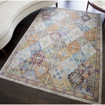 Chea Distressed Blue/Green Area Rug Rug Size: Rectangle 5 x 7
