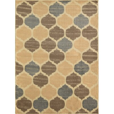 Truong Trellis Tan Area Rug Rug Size: Rectangle 8 x 10